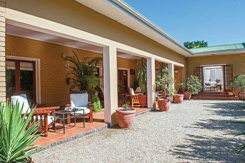 The patio at Cosmos cuisine Guesthouse in Addo, Eastern Cape
